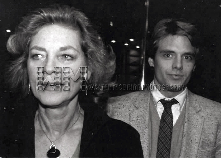 Lauren Bacall & Michael Biehn attending a party fot 'THE FAN'  in New York City.