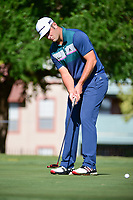 Jon Rahm (ESP) watches his putt on 14 during the round 1 of the Dean &amp; Deluca Invitational, at The Colonial, Ft. Worth, Texas, USA. 5/25/2017.<br /> Picture: Golffile | Ken Murray<br /> <br /> <br /> All photo usage must carry mandatory copyright credit (&copy; Golffile | Ken Murray)