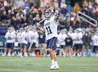 Washington, DC - April 7, 2018: Georgetown Hoyas Craig Berge (11) calls a play during game between Providence and Georgetown at  Cooper Field in Washington, DC.   (Photo by Elliott Brown/Media Images International)
