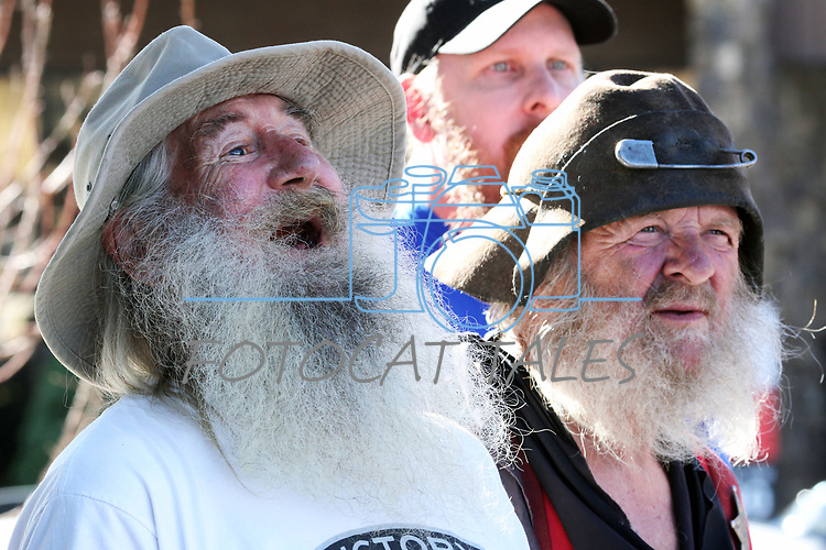 Competitors wait for results in the annual Nevada Day Beard Contest in Carson City, Nev., on Saturday, October 28, 2017. <br /> Photo by Lance Iversen/Nevada Momentum
