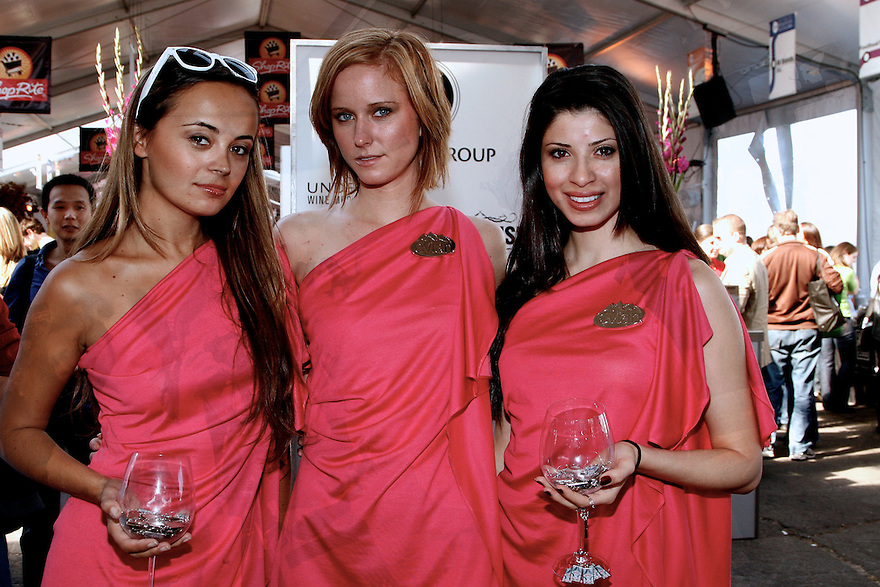 Evian models at the NY Wine and Food Festival at the Pier 40  New York City on Oct 10, 2008. ( Photo For Evian)