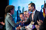 "Yander Alberto Zamora and Spanish king Felipe attends XXXIV International prizes of journalism ""Rey de Espana"" and the XIII edition of the prize ""Don Quijote"" of journalism in Madrid, Spain. March 27, 2017. (ALTERPHOTOS / Rodrigo Jimenez)"