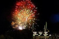 Fireworks during Stanford's 63-26 win over San Jose State on September 14, 2002 at Stanford Stadium.<br />Photo credit mandatory: Gonzalesphoto.com