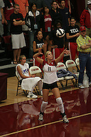 24 September 2005: Jessica Fishburn during Stanford's 3-0 win over UCLA at Maples Pavilion in Stanford, CA.
