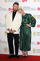Bobby Berk and Jane Krakowski at the Virgin Media BAFTA Television Awards 2019 - Press Room at The Royal Festival Hall, London on May 12th 2019<br /> CAP/ROS<br /> ©ROS/Capital Pictures