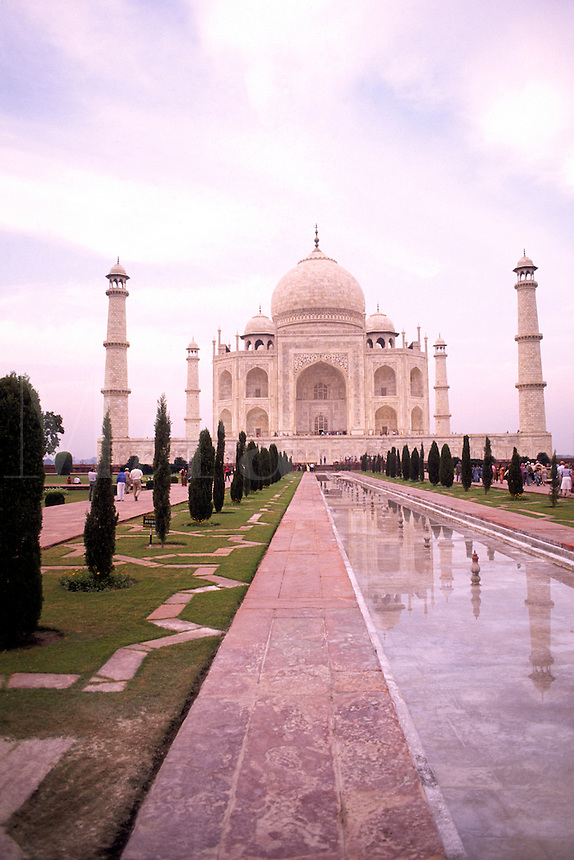 Beautiful Taj Mahal monument world famous tomb in Agra India considered the most beautiful building in the world