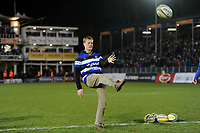 A general view of the half-time crossbar challenge. Aviva Premiership match, between Bath Rugby and Wasps on December 29, 2017 at the Recreation Ground in Bath, England. Photo by: Patrick Khachfe / Onside Images