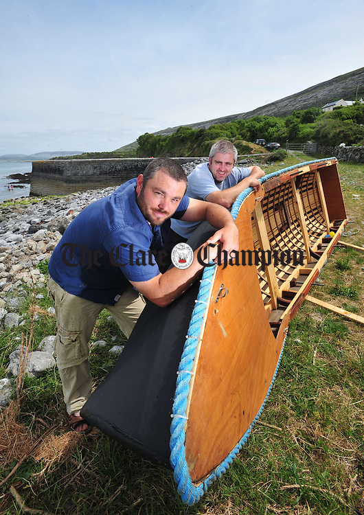 Richard and Michael O' Donoghue at Gleninagh Pier. Photograph by Declan Monaghan