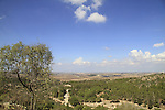Israel, Shephelah, a view of the Coastel Plain from Hurvat Eked