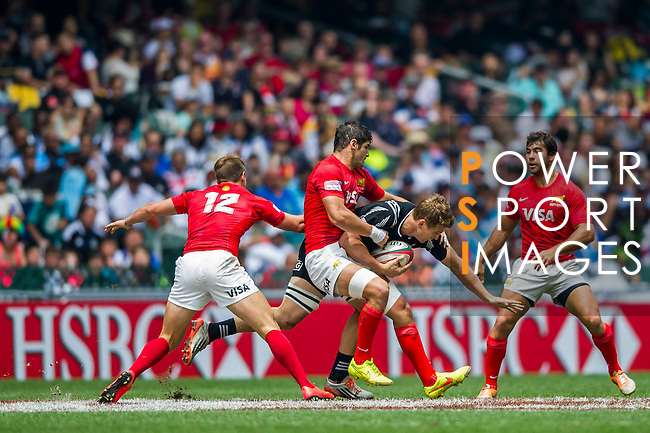 New Zealand vs Argentina during the HSBC Sevens Wold Series Cup Quarter Finals match as part of the Cathay Pacific / HSBC Hong Kong Sevens at the Hong Kong Stadium on 29 March 2015 in Hong Kong, China. Photo by Juan Manuel Serrano / Power Sport Images