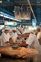 The pirarucu, also known as arapaima or paiche ( Arapaima gigas ) a South American tropical freshwater fish at Manaus City Market ( Mercado Municipal ), Brazil. It is a living fossil and one of the largest freshwater fishes in the world.