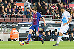 Sergi Roberto of FC Barcelona (L) runs with the ball during the La Liga 2017-18 match between FC Barcelona and Deportivo La Coruna at Camp Nou Stadium on 17 December 2017 in Barcelona, Spain. Photo by Vicens Gimenez / Power Sport Images