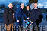SRAC and the Chain Gang Cycling Club Cycle launch on Tuesday in the Rose Hotel on Tuesday. L-r, John Murray (Chain Gang Cycling Club), Mark Sullivan and Michelle King (The Rose Hotel) and Sean Kelly.