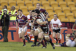 Ross Kennedy makes a strong run during the Air NZ Cup game between the Counties Manukau Steelers and Southland played at Mt Smart Stadium on 3rd September 2006. Counties Manukau won 29 - 8.