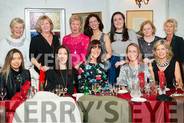 Enjoying Women's Christmas at Cassidy's restaurant, Tralee on Friday night last were front l-r: Ciara Cashman, Laraine O'Donnell, Aisling Barrett, Shirley Eager and Sandra Burke. Back l-r: Joan Dowd, Marie Corkery, Eileen Geaney, Caroline Reidy, Casey O'Donnell Dolores Gallagher and Theresa Cashman.