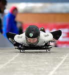 15 December 2006: Louise Corcoran from New Zealand, starts her run at the FIBT Women's World Cup Skeleton Competition at the Olympic Sports Complex on Mount Van Hoevenburg  in Lake Placid, New York, USA. &amp;#xA;&amp;#xA;Mandatory Photo credit: Ed Wolfstein Photo<br />