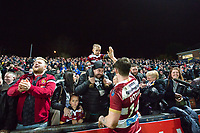Picture by Allan McKenzie/SWpix.com - 13/04/2018 - Rugby League - Betfred Super League - Leeds Rhinos v Wigan Warriors - Headingley Carnegie Stadium, Leeds, England - John Bateman meets and thanks the fans at the end of the game.