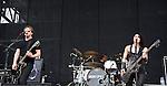 Sick Puppies perform during the 2013 Rock On The Range festival at Columbus Crew Stadium in Columbus, Ohio.