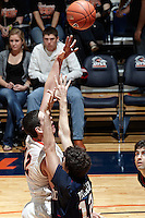 SAN ANTONIO, TX - DECEMBER 20, 2010: The Samford University Bulldogs vs. the University of Texas at San Antonio Roadrunners Men's Basketball at the UTSA Convocation Center. (Photo by Jeff Huehn)