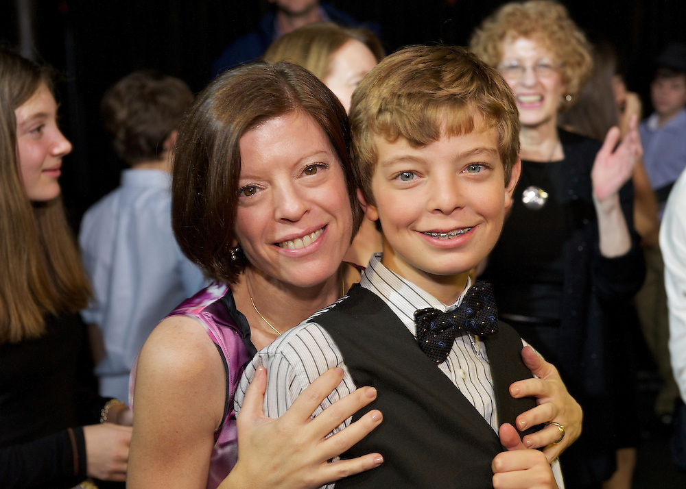 Mom with the Bar Mitzvah Boy.