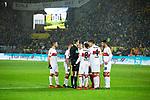09.03.2019, Signal Iduna Park, Dortmund, GER, 1.FBL, Borussia Dortmund vs VfB Stuttgart, DFL REGULATIONS PROHIBIT ANY USE OF PHOTOGRAPHS AS IMAGE SEQUENCES AND/OR QUASI-VIDEO<br /> <br /> im Bild   picture shows:<br /> Stuttgarter Proteste, nachdem Schiedsrichter   Referee Benjamin Cortus auf Elfmeter entscheidet, <br /> <br /> Foto &copy; nordphoto / Rauch