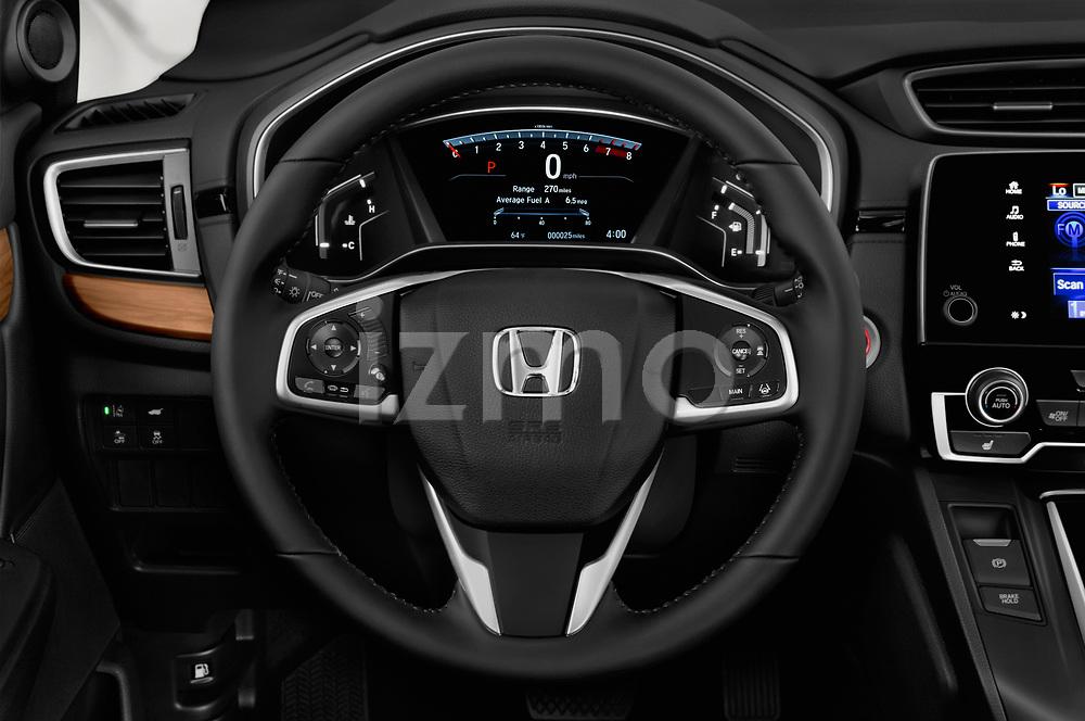 Car pictures of steering wheel view of a 2017 Honda CR-V EX-L 5 Door SUV Steering Wheel