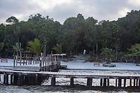 Africa, Madagascar, Canal des Pangalanes. Aye Aye Island. Dock to Palmarium Bungalow.