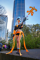 Fnatic Janna, League of Legends Cosplay, Sakura Con 2016, Seattle, Washington, USA.