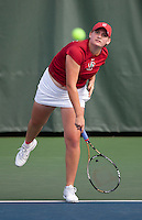 STANFORD, CA - April 14, 2011: Mallory Burdette of Stanford women's tennis during Stanford's dual against St. Mary's. Stanford won 6-1. Burdette defeated St. Mary's Catherine Isip 6-0, 7-6 (6).