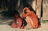 Kids resting, Madagascar, Africa