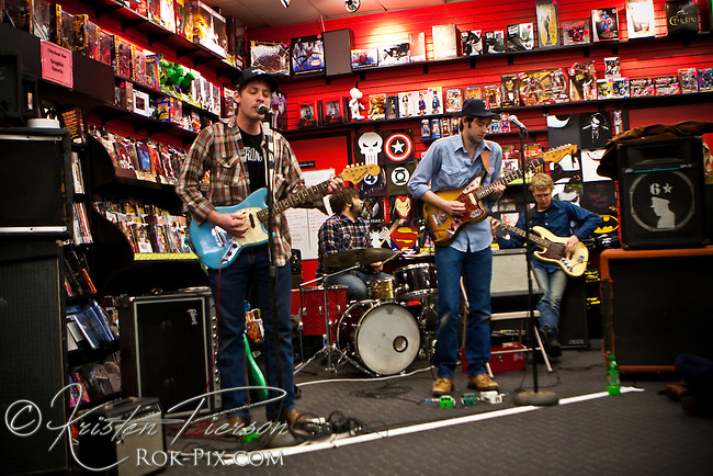 Deer Tick perform at Newbury Comics for Comic Book Day.