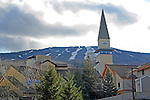 October Snow on Stratton Mountain in the Green Mountains of Vermont USA