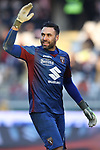 Salvatore Sirigu of Torino FC reacts after the referee's assistant failed to raise his flag for offside during the Serie A match at Stadio Grande Torino, Turin. Picture date: 12th January 2020. Picture credit should read: Jonathan Moscrop/Sportimage