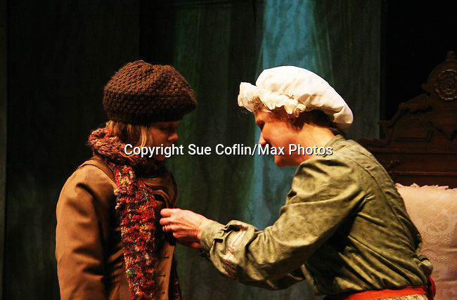 "Isabella Convertino ""Mary Lennox"" and Cat Guthrie ""Martha""  as Philipstown Depot Theatre presents The Secret Garden on November 15, 2009 in Garrison, New York. The musical The Secret Garden is the story of ""Mary Lennox"", a rich spoiled child who finds herself suddenly an orphan when cholera wipes out the entire Indian village where she was living with her parents. She is sent to live in England with her only surviving relative, an uncle who has lived an unhappy life since the death of his wife 10 years ago. ""Archibald's son Colin"", has been ignored by his father who sees Colin only as the cause of his wife's death.This is essentially the story of three lost, unhappy souls who, together, learn how to live again while bringing Colin's mother's garden back to life. (Photo by Sue Coflin/Max Photos)...."