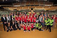 Februari 08, 2015, Apeldoorn, Omnisport, Fed Cup, Netherlands-Slovakia, doubles<br /> Photo: Tennisimages/Henk Koster