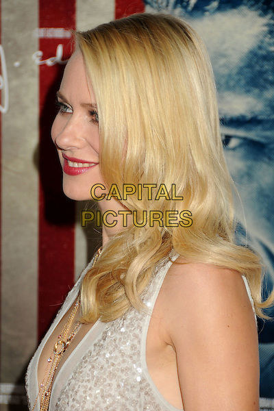"Naomi Watts.AFI Fest 2011 Opening Night Gala Premiere of ""J. Edgar"" held at Grauman's Chinese Theatre, Hollywood, California, USA..November 3rd, 2011.headshot portrait cream white sequins sequined gold necklace plunging neckline profile .CAP/ADM/BP.©Byron Purvis/AdMedia/Capital Pictures."