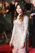 London, UK. 14 February 2016. Actress Gemma Chan. Red carpet arrivals for the 69th EE British Academy Film Awards, BAFTAs, at the Royal Opera House. © Vibrant Pictures/Alamy Live News
