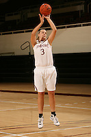 STANFORD, CA - SEPTEMBER 28:  Mikaela Ruef during picture day on September 28, 2009 at Maples Pavilion in Stanford, California.