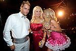 "Joshua Strickland, Holly Madison, and Angelica ""Angel"" Perrino at TAO nightclub, Las Vegas, May 6, 2010  © Al Powers / RETNA ltd"