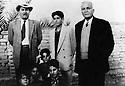 Irak 1955.Ramadi: de gauche a droite, Saddik Shawess, Ali Baba Shawess, membre du comite central du PDK et Ismael Shawess, fondateur de Khoyboun.Iraq 1955.Ramadi: from left to right, Saddik Shawess, Ali Baba Shawess and Ismael Shawess, founder member of Khoyboun