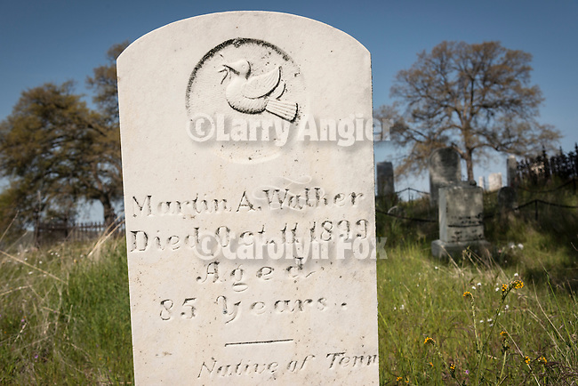 Historic 19th century Gold Rush era City Cemetery, Chinese Camp, Calif...Morton Walker