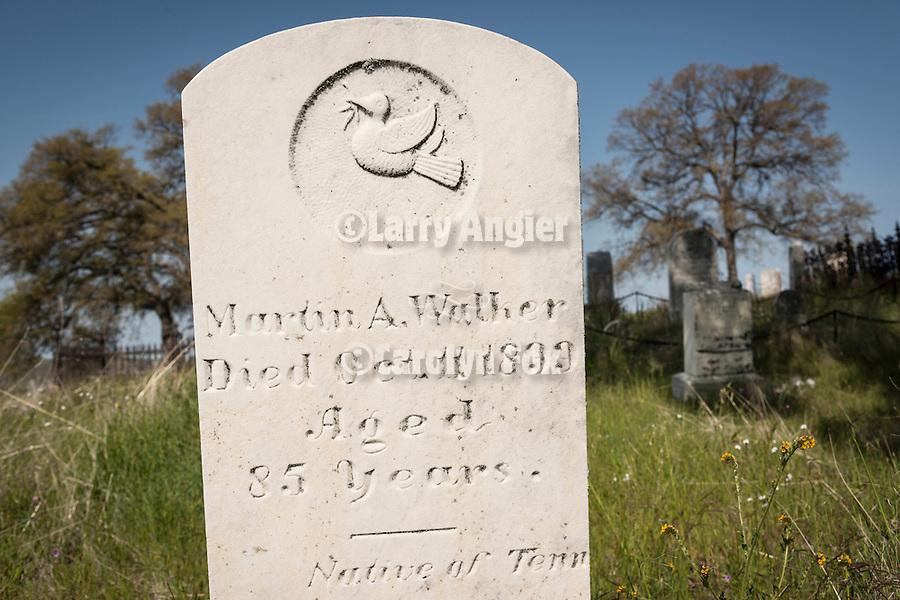 Historic 19th century Gold Rush era City Cemetery, Chinese Camp, Calif...Morton Walker
