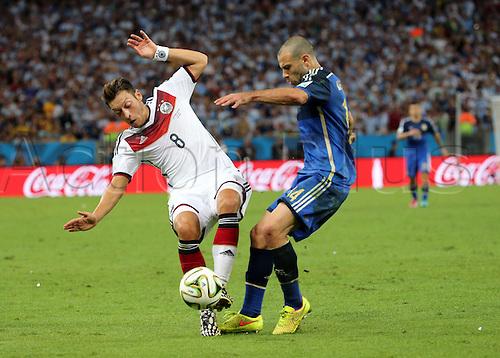 13.07.2014. Rio de Janeiro, Brazil. World Cup Final. Germany v Argentina. Ozil and Mascherano