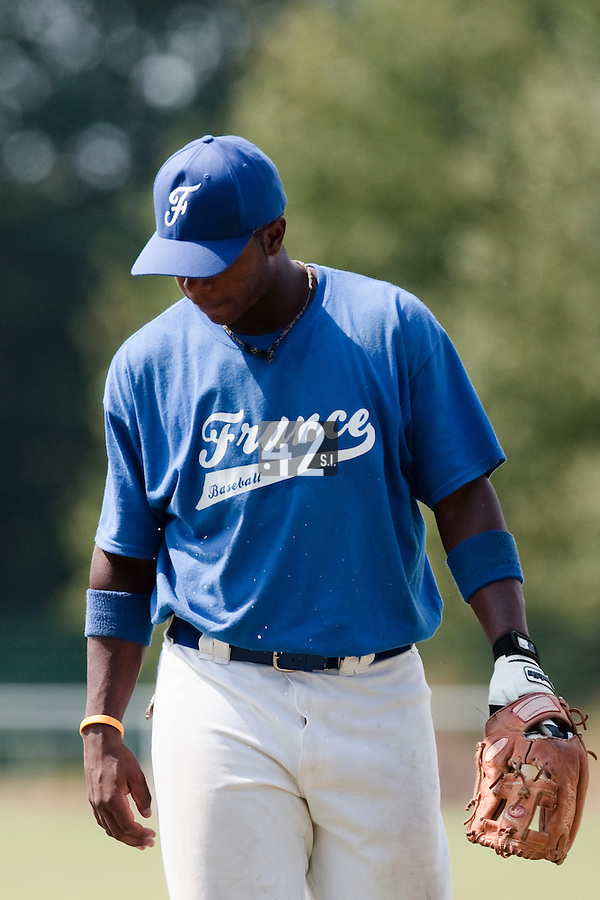 21 july 2010: Omar Williams of Team France is seen during a practice prior to the 2010 European Championship Seniors, in Neuenburg, Germany.