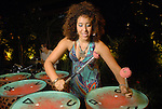 Meridian on the steel drums at the Park Place pool party Saturday night June 20, 2009.(Dave Rossman/For the Chronicle)