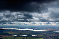 The River Forth and the Forth Valley from The Law, the Ochil Hills, Tillicoultry, Clackmannanshire