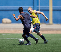 Dustin Corea and Eriq Zavaleta training before the 2009 CONCACAF Under-17 Championship From April 21-May 2 in Tijuana, Mexico
