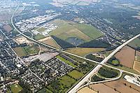 Deutschland, Schleswig- Holstein, Glinde, Biedenkamp, Gewerbegebiet, BAN Abfahrt, Glinde Reinbek, A26, K80, Glinde aus Richtung Nordost