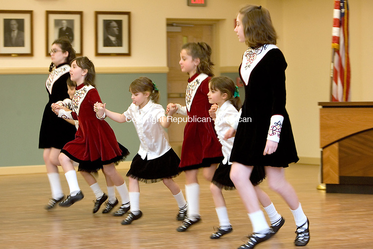TORRINGTON, CT. 16 March 2012-031612SV05-The McArdle Irish Dancers perform during a St Patrick's Day ceremony at city hall in Torrington Friday..Steven Valenti Republican-American