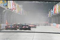 SAO PAULO, SP, 05 DE MAIO DE 2013 - INDY 300 SP - Corrida da São Paulo Indy 300 realizada na tarde deste domingo (05) no circuito de rua do Anhembi, zona norte da cidade, teve como vencedor James Hinchcliffe,  seguido de Takuma Sato, em segundo  e Marco Andretti em terceiro. FOTO: MAURICIO CAMARGO / BRAZIL PHOTO PRESS.
